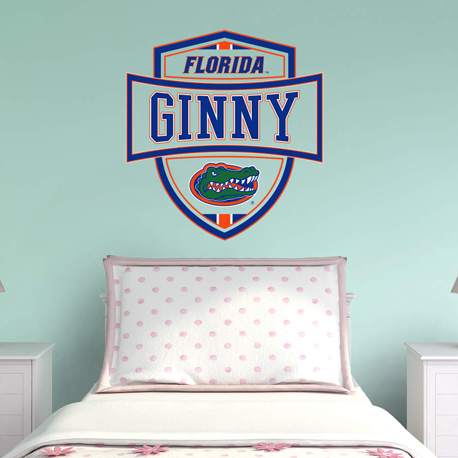 Florida Gators Personalized Name Wall Decal Shop Fathead For Wall Art D Cor