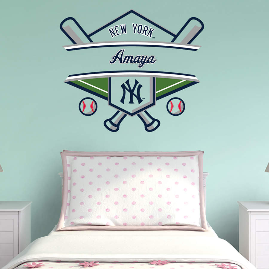 New York Yankees Personalized Name Wall Decal
