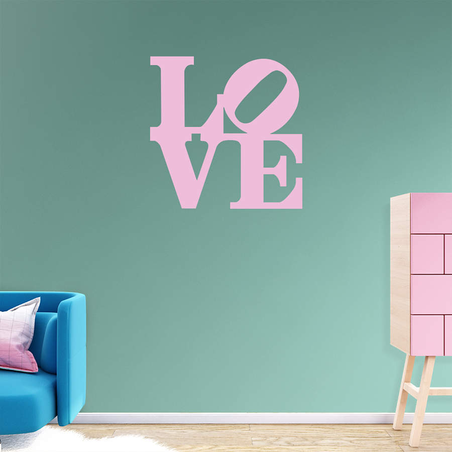 Love pop art wall decal shop fathead for wall art d cor for Pop wall art