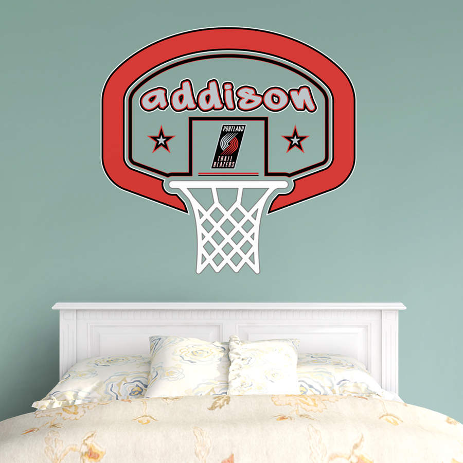 Portland Trail Blazers Personalized Name Wall Decal