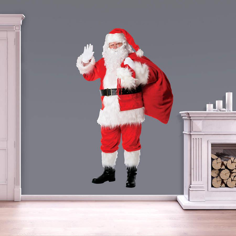Santa Claus Wall Decal Shop Fathead 174 For Christmas Decor