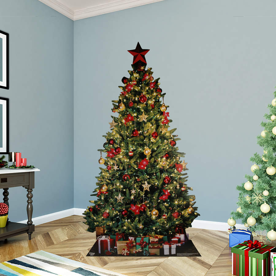 Christmas Tree Stand That Turns: Christmas Tree Life-Size Stand Out Cut Out