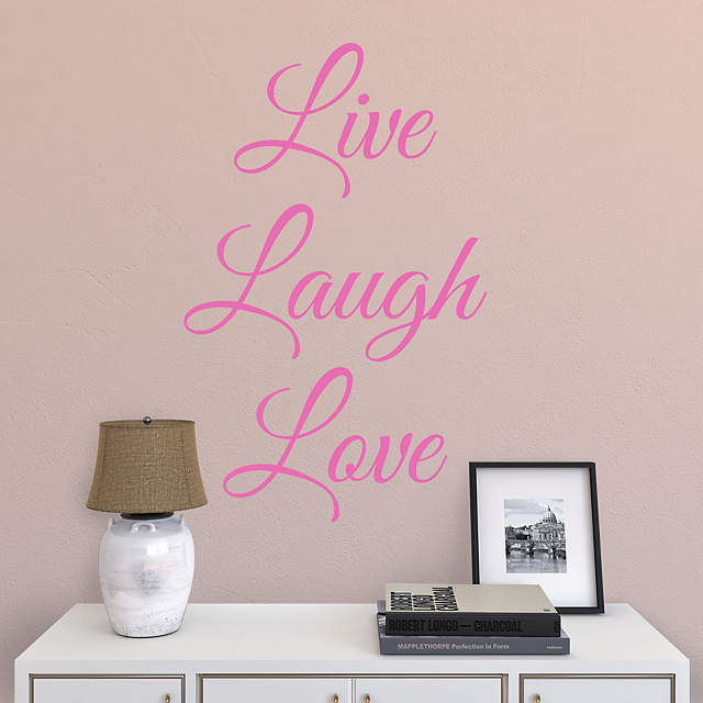 live laugh love wall decal shop fathead for wall art d cor