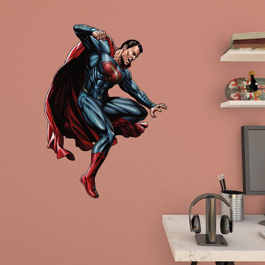 Superman attacking batman v superman fathead jr wall for Superman wall decal