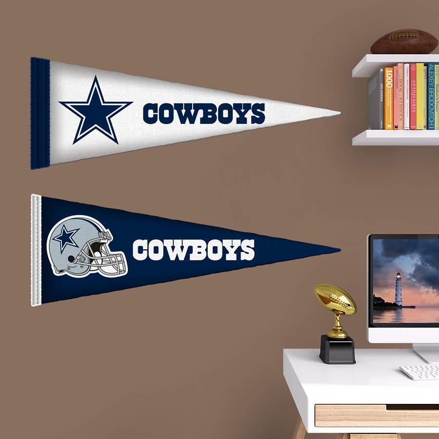 Dallas cowboys pennants fathead jr wall decal shop for Dallas cowboys wall decals for kids rooms