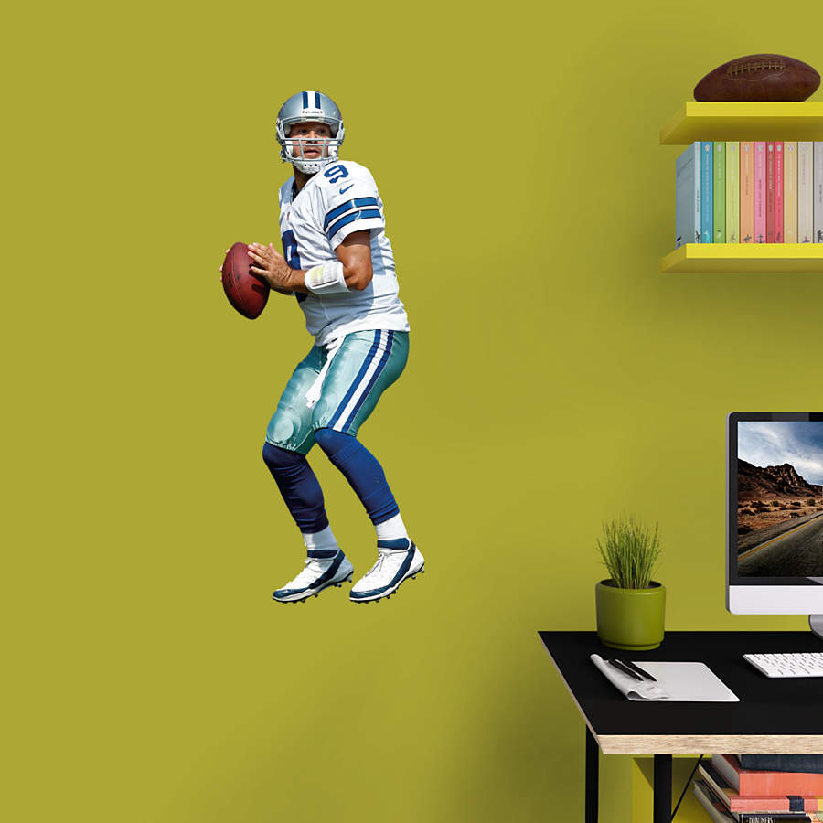 Tony romo fathead jr wall decal shop fatheadr for for Dallas cowboys wall decals for kids rooms