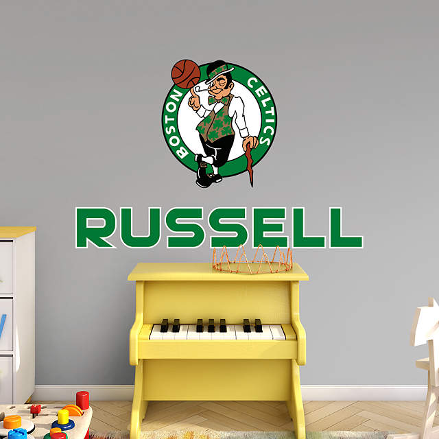Boston Celtics Stacked Personalized Name Wall Decal Shop