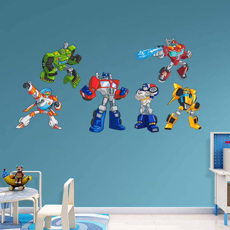Classroom Decor Numbers ~ Transformers rescue bots collection wall decal shop
