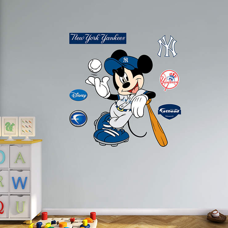 Mickey Mouse New York Yankee Wall Decal Shop Fathead 174 For Mickey Mouse Decor