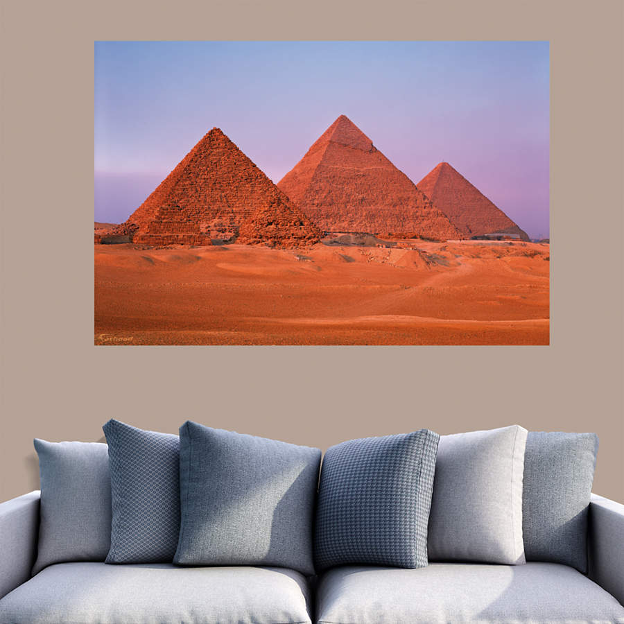 Egyptian pyramids mural wall decal shop fathead for for Egyptian wall mural