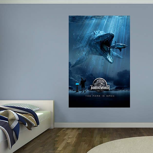Jurassic World Aquarium Mural Wall Decal