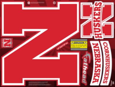 Nebraska Cornhuskers Street Grip Outdoor Decal