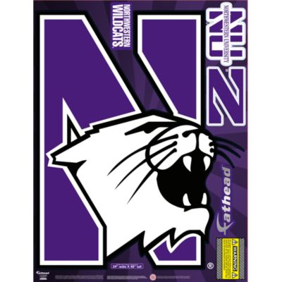 Northwestern Wildcats Street Grip Outdoor Decal