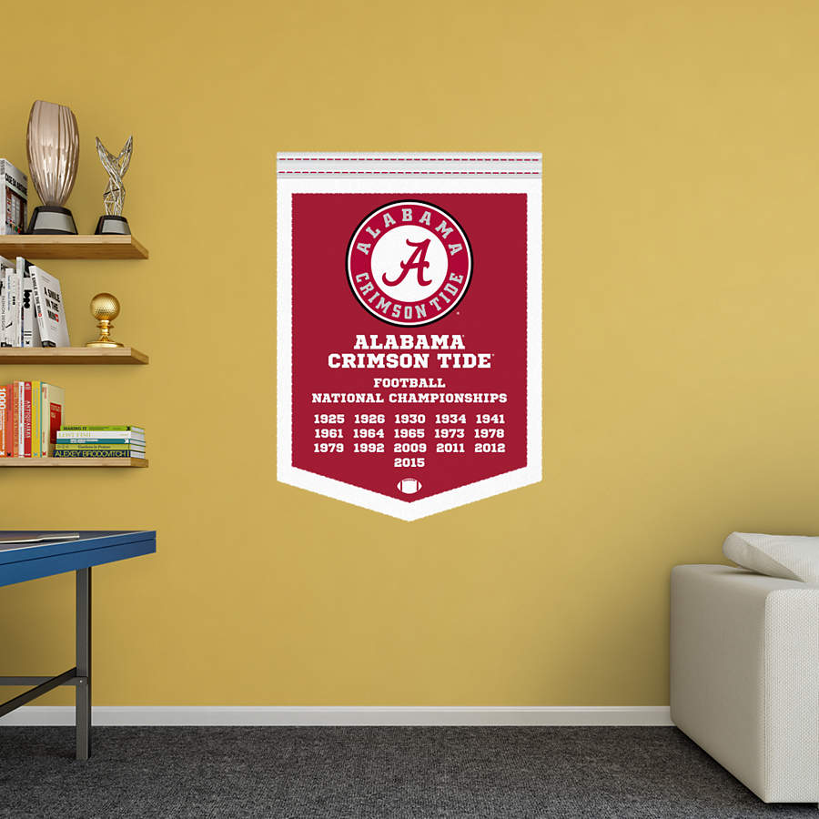 Alabama football national champions banner ncaa football for Alabama football wall mural