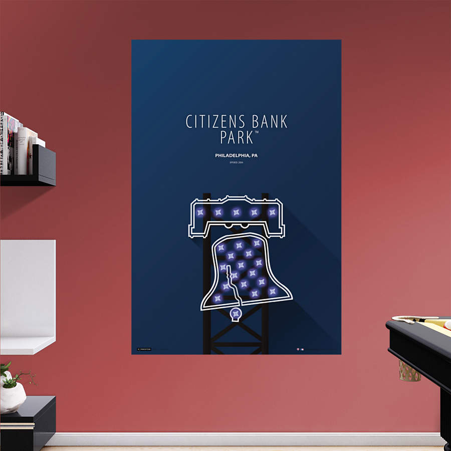 Citizens bank park minimalist art mural wall decal shop for Minimalist wall art