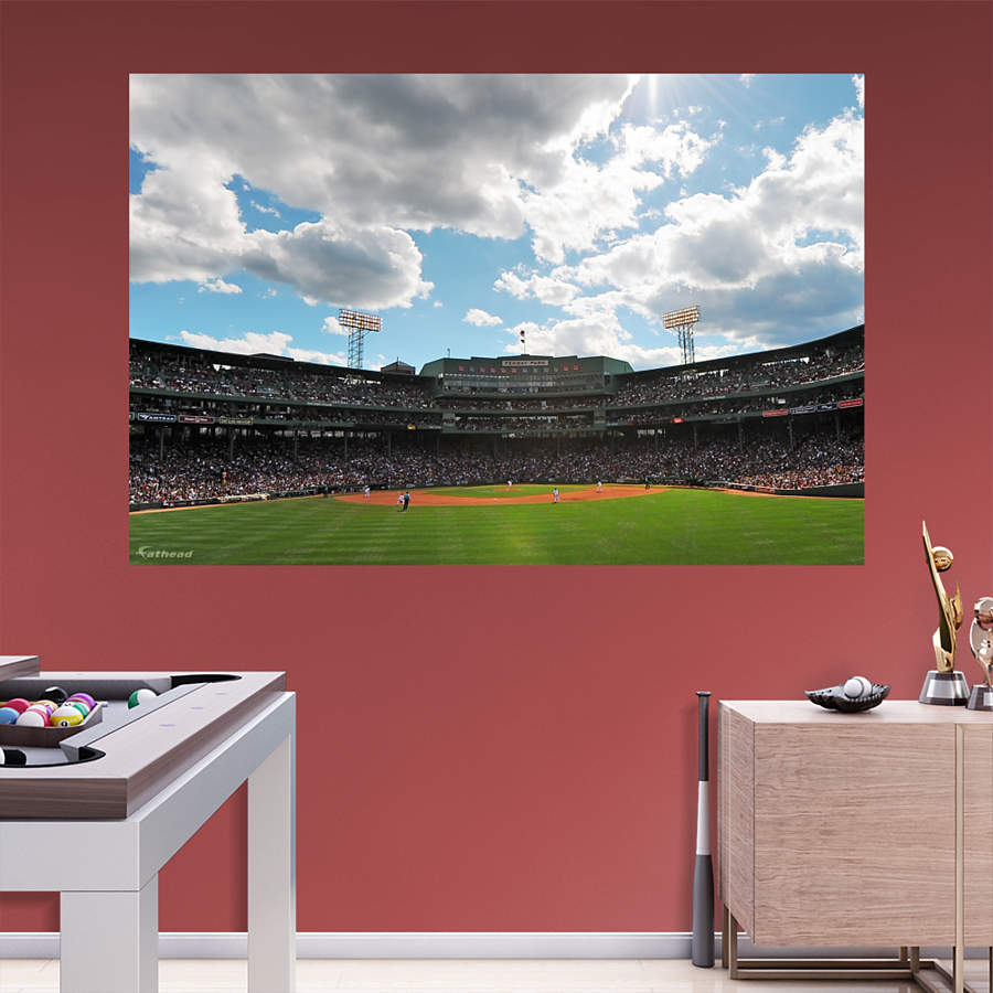 Fenway park outfield mural wall decal shop fathead for for Boston wall mural