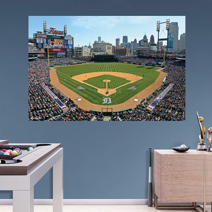 inside comerica park 2013 mural wall decal shop fathead