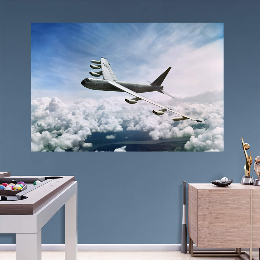 B 52 stratofortress mural wall decal shop fathead for for Decor 6 air force