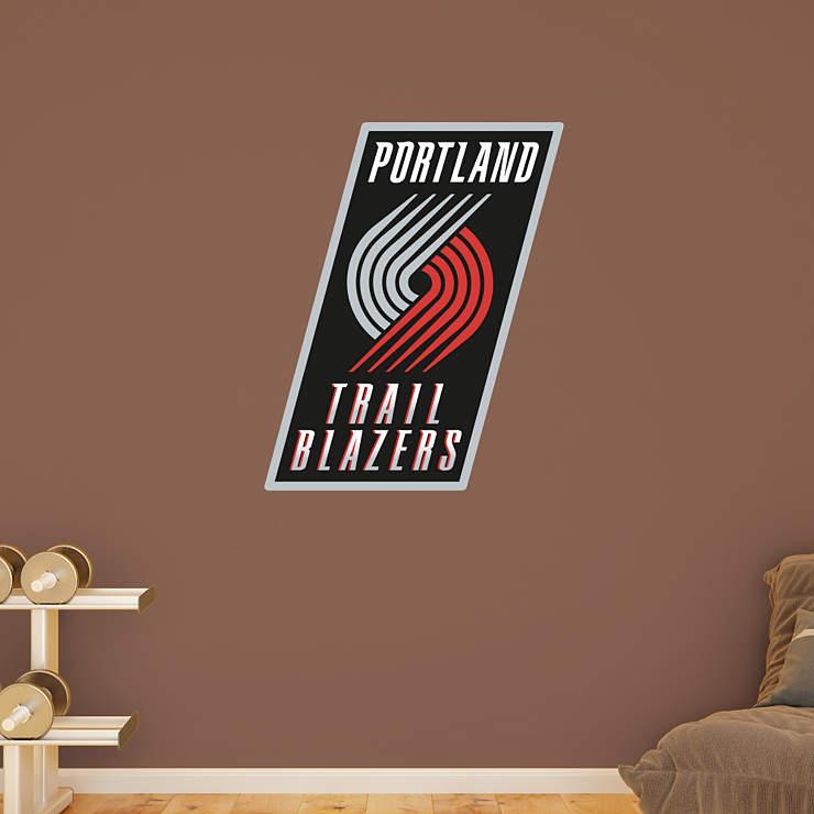 Portland Trail Blazers Art: Portland Trail Blazers Logo Wall Decal