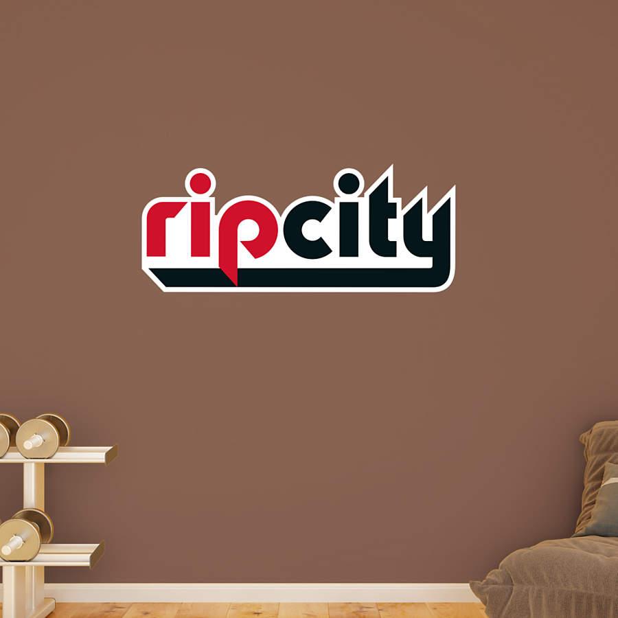 Blazers Logo Meaning: Portland Trail Blazers Rip City Logo Wall Decal