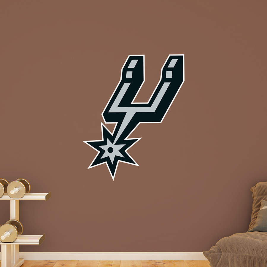 San antonio spurs alternate logo wall decal shop fathead for Spurs decorations