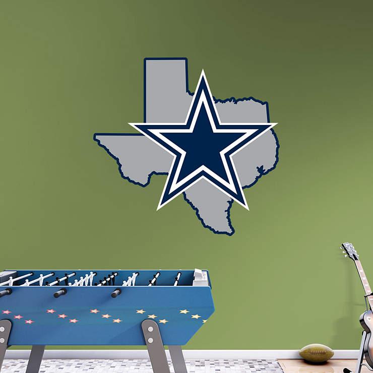 Dallas cowboys state of texas logo wall decal shop for Dallas cowboys wall decals for kids rooms