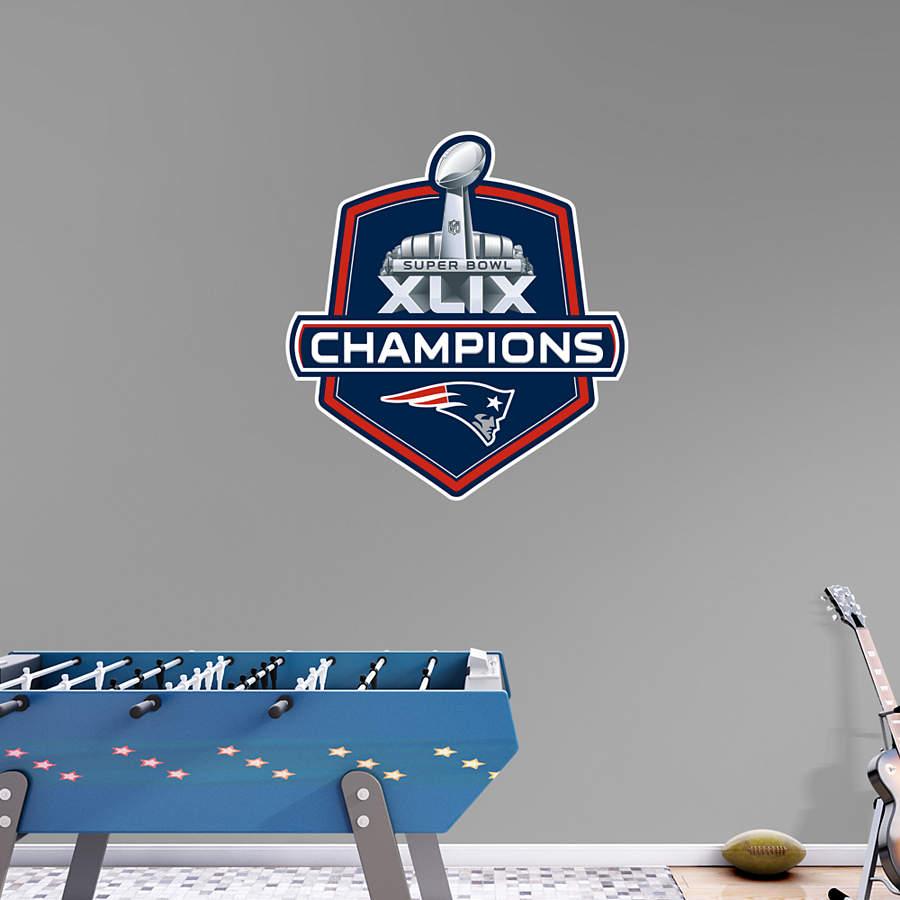 New England Patriots Super Bowl Xlix Champions Logo Wall