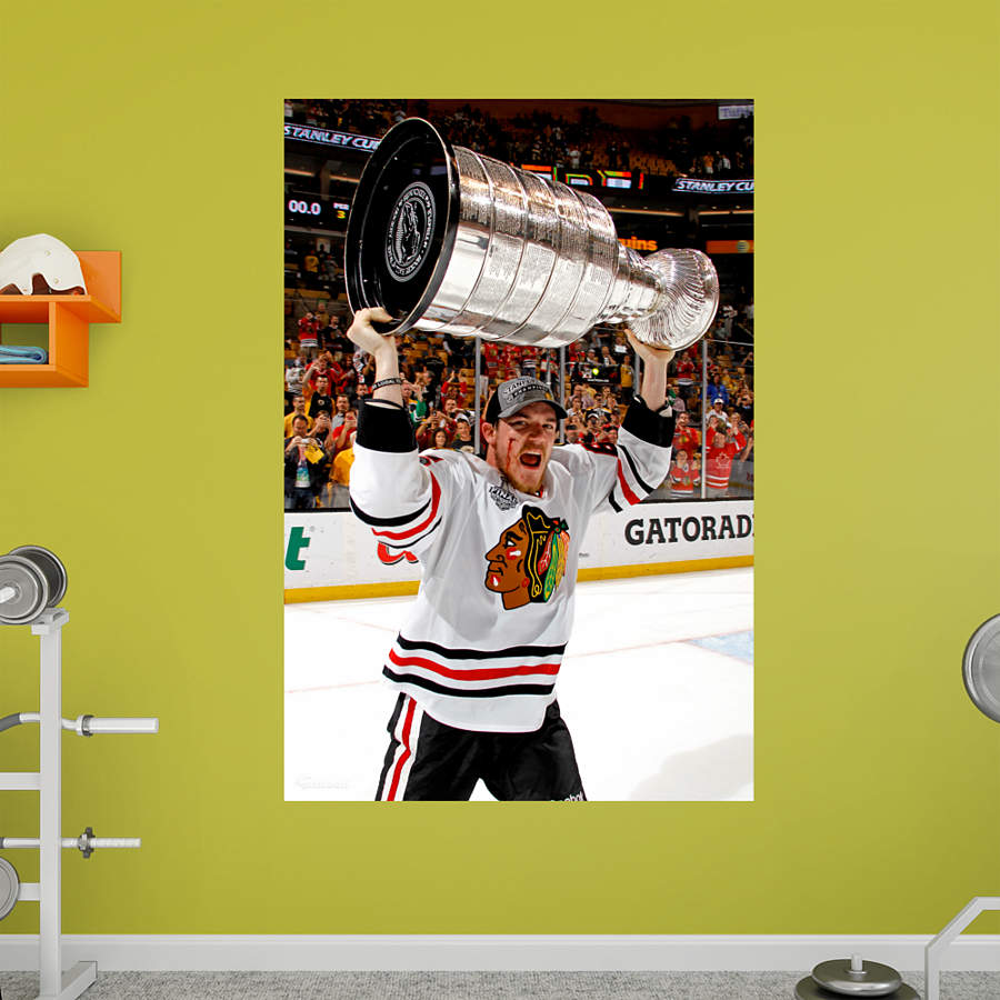 Andrew shaw 2013 stanley cup hoist mural wall decal for Blackhawks mural chicago