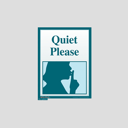 quiet please sign - photo #13