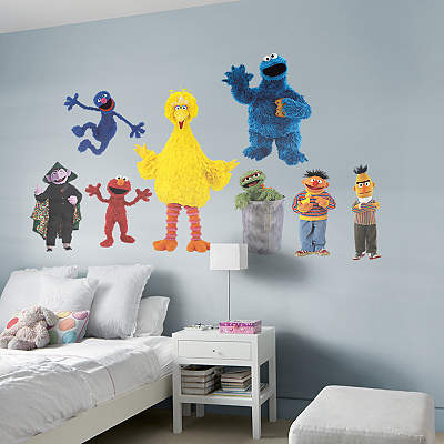 shop kids sesame street at fathead. Black Bedroom Furniture Sets. Home Design Ideas