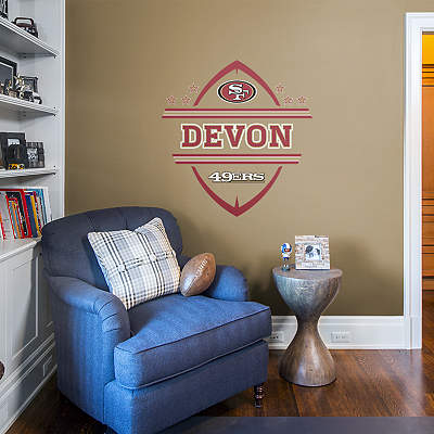 San francisco 49ers fathead wall decals more shop nfl for 49ers wall mural