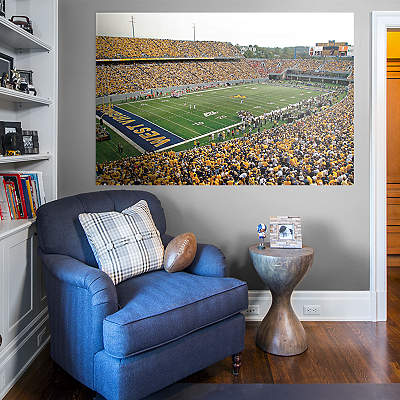West virginia mountaineers logo wall decal shop fathead for Beaver stadium wall mural