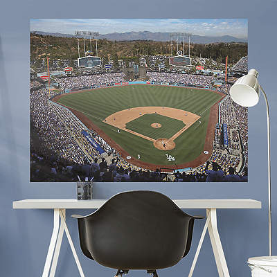 Los angeles dodgers fathead wall decals more shop mlb for Dodger stadium wall mural