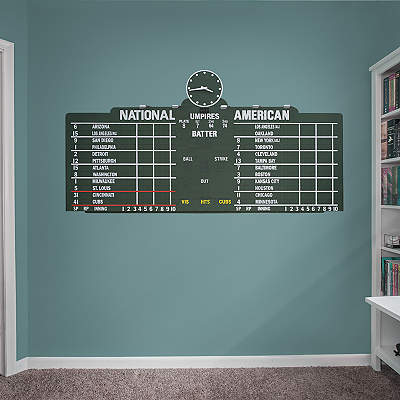 Chicago cubs fathead wall decals more shop mlb fathead for Baseball scoreboard wall mural