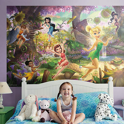 Tinker bell fathead jr wall decal shop fathead for for Disney tinkerbell mural