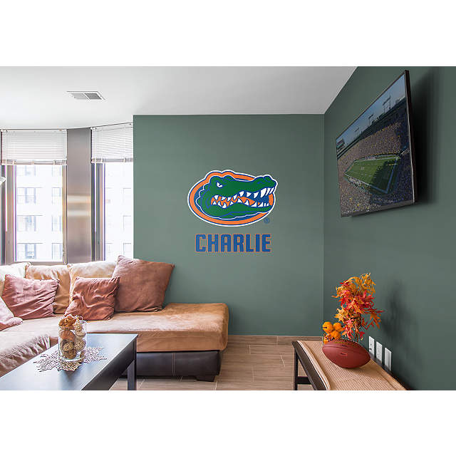 Florida Gators Stacked Personalized Name Wall Decal Shop Fathead For Wall Art D Cor