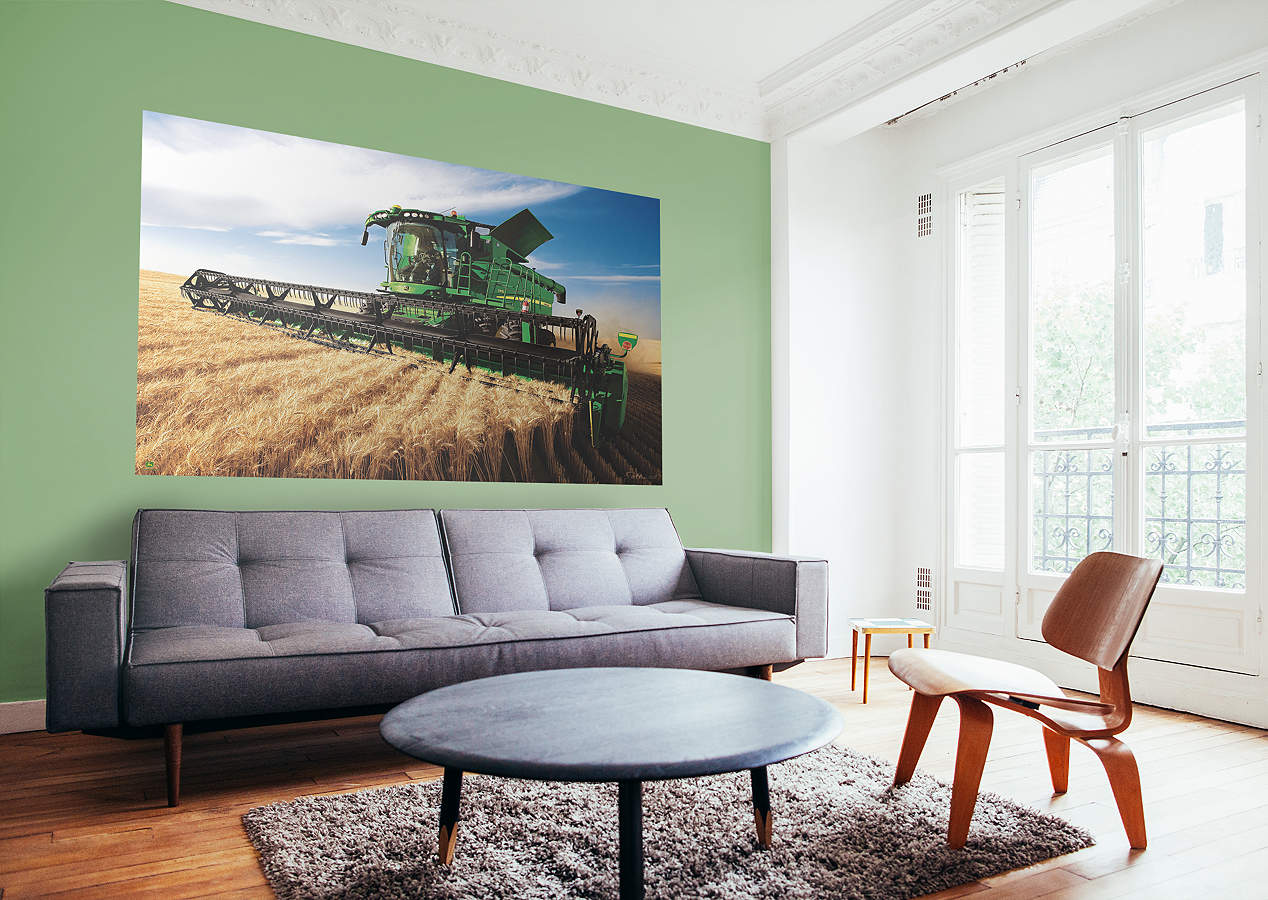 John Deere Combine Mural Wall Decal Shop Fathead 174 For