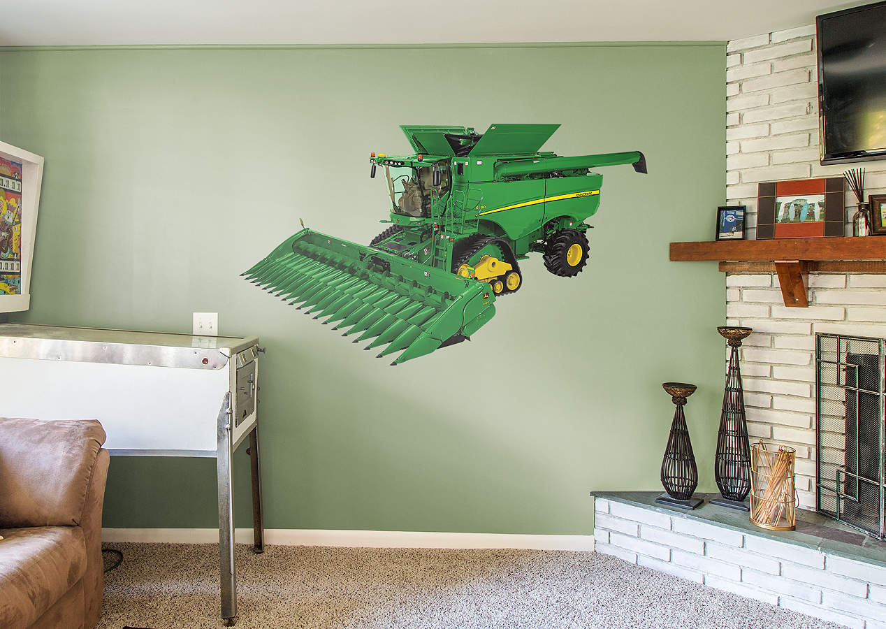 John Deere Wall Mural : John deere s combine wall decal shop fathead for