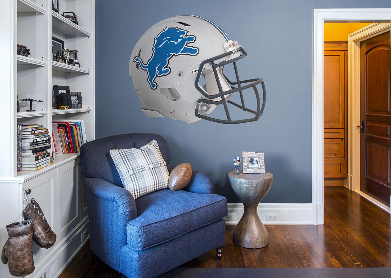 Detroit Lions Helmet Wall Decal Shop Fathead For
