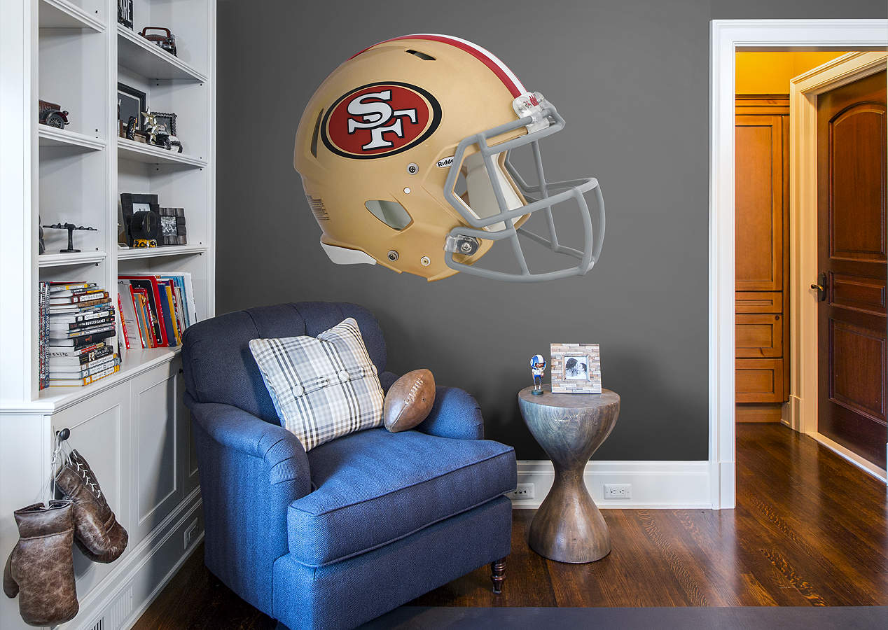 san francisco 49ers helmet wall decal shop fathead for. Black Bedroom Furniture Sets. Home Design Ideas