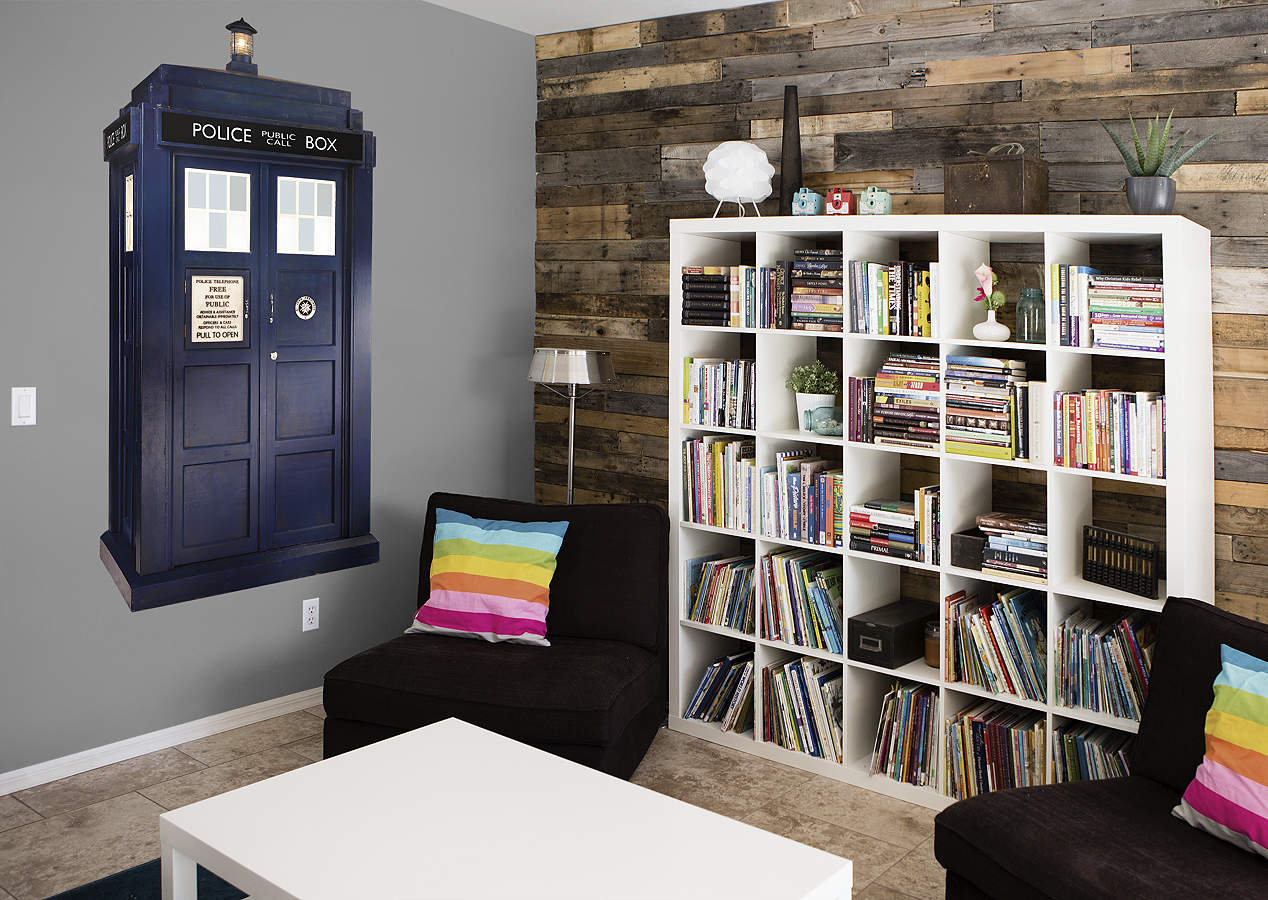 Tardis wall decal shop fathead for doctor who decor for Decoration porte tardis