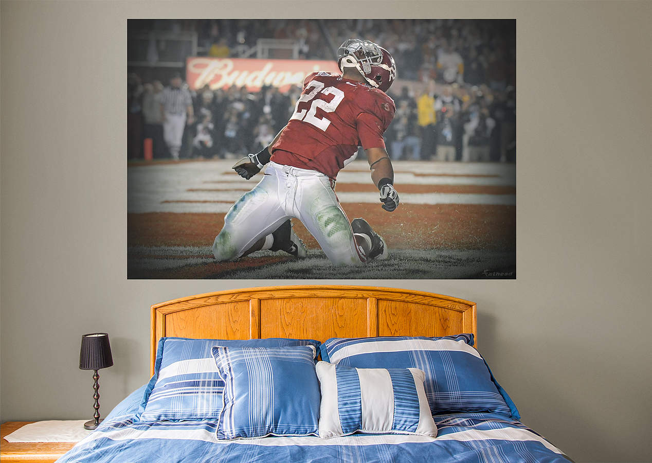 Mark ingram alabama mural wall decal shop fathead for for Alabama wall mural