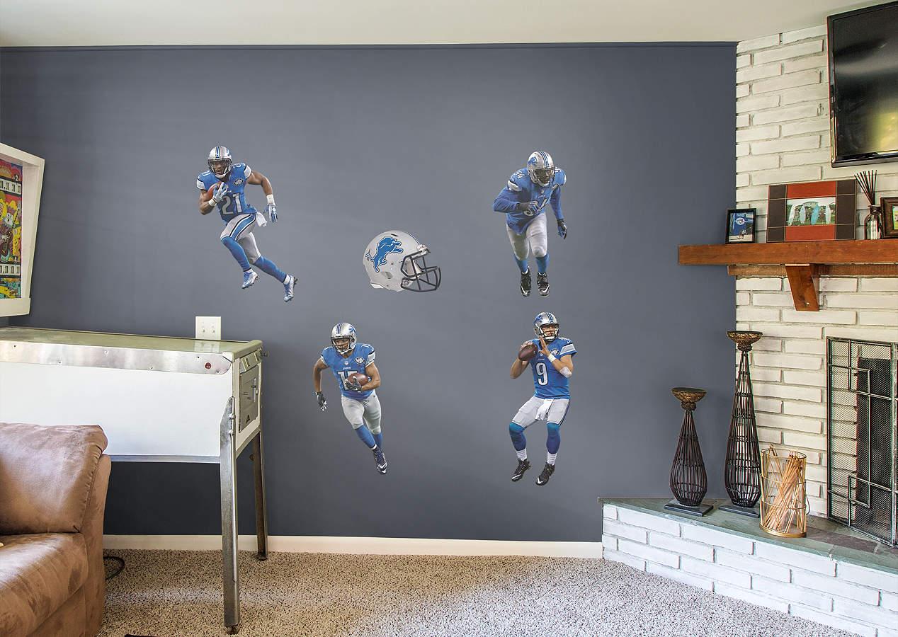 Detroit Lions Power Pack Wall Decal Set Shop Fathead