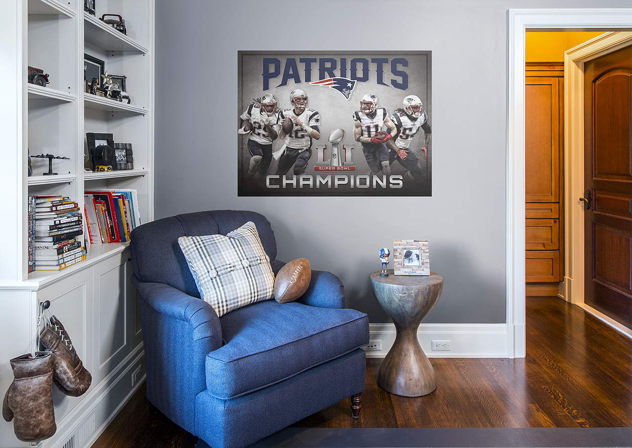 New england patriots super bowl champions mural wall decal for England wall mural