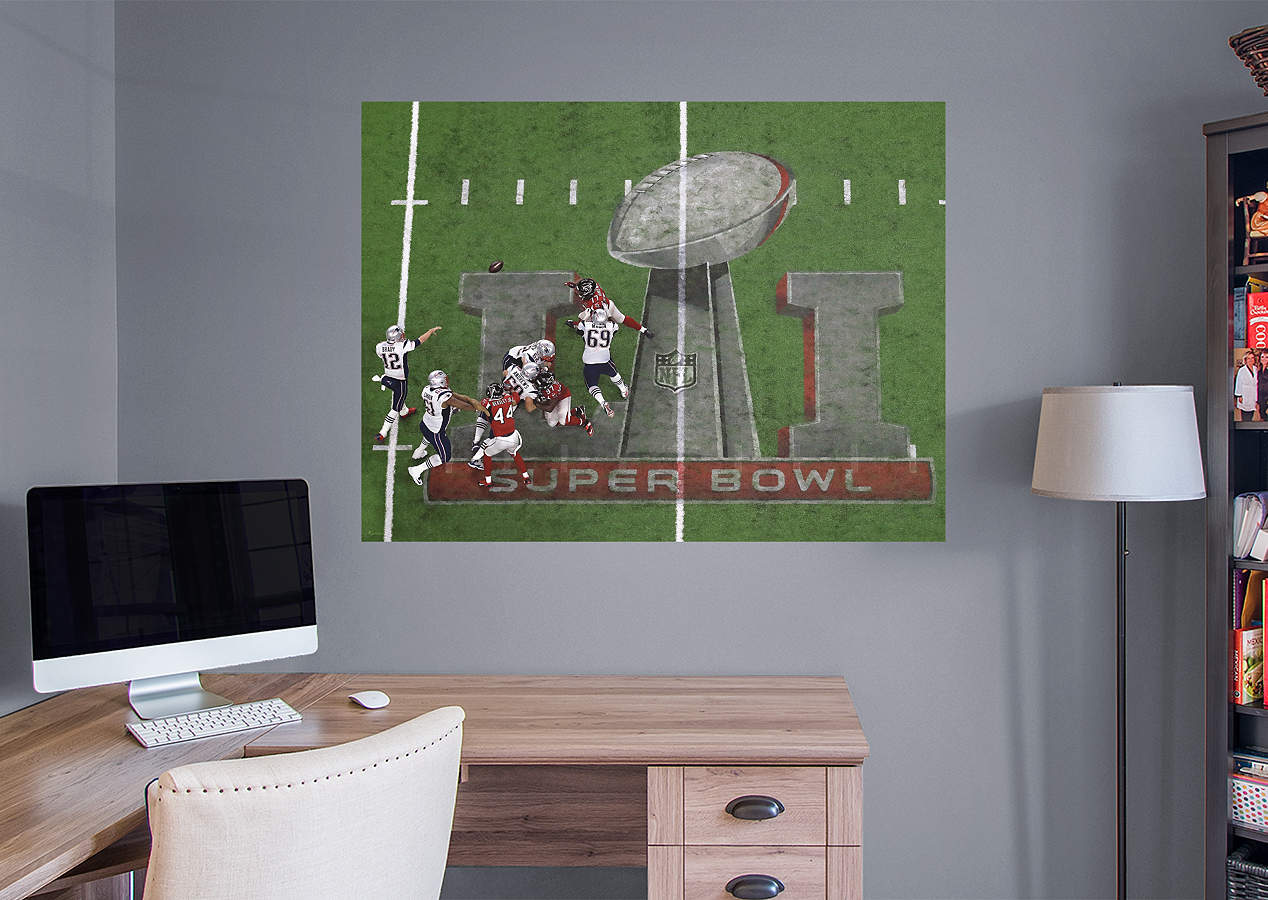 New england patriots super bowl 51 overhead mural wall for England wall mural
