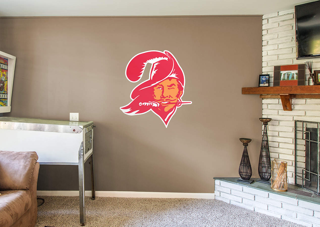 Tampa bay buccaneers classic logo wall decal shop fathead for tampa bay buccaneers decor Home decor tampa