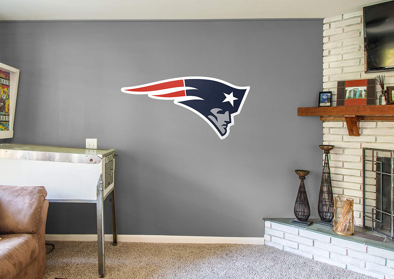 New England Patriots Logo Wall Decal Shop Fathead For New England Patriots Decor