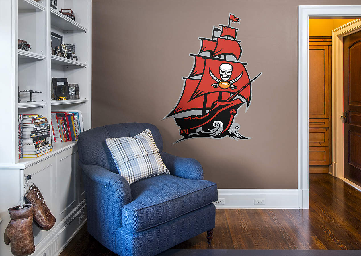 Tampa bay buccaneers pirate ship logo wall decal shop fathead for tampa bay buccaneers decor Home decor tampa