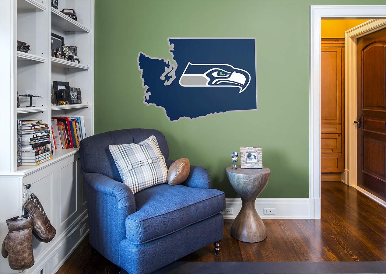 Seattle Seahawks State Of Washington Logo Wall Decal