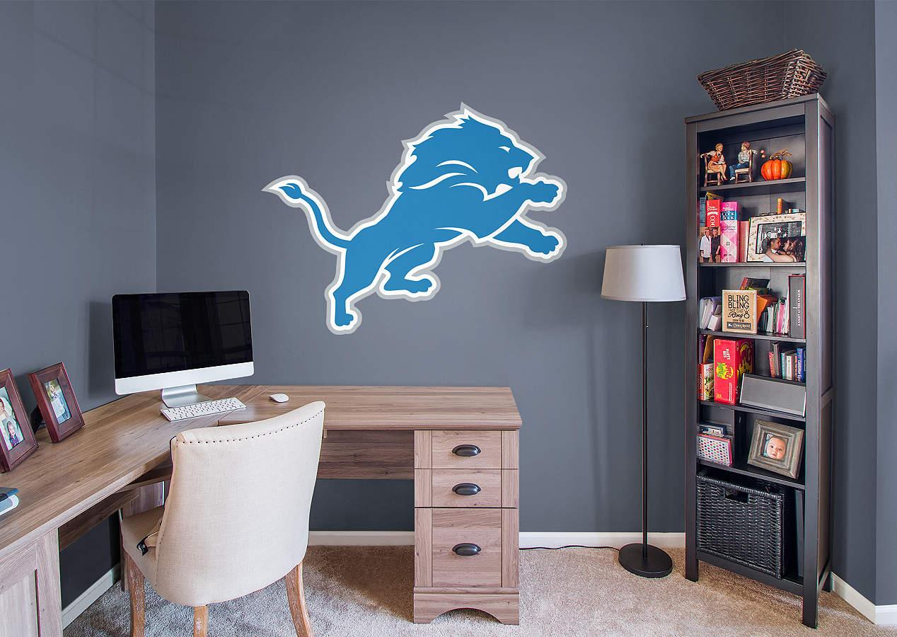 Detroit Lions Logo Wall Decal Shop Fathead For Detroit